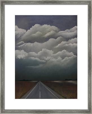 This Menacing Sky Framed Print by Cynthia Lassiter