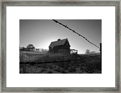 Framed Print featuring the photograph This Old Barn by Eric Rundle