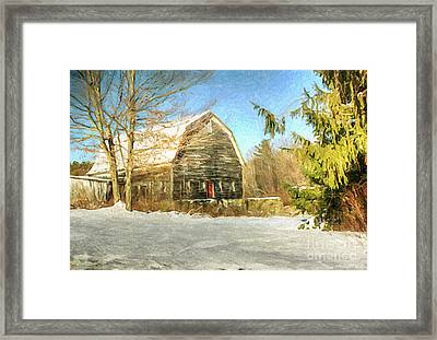 This Old Barn Framed Print by Tina  LeCour