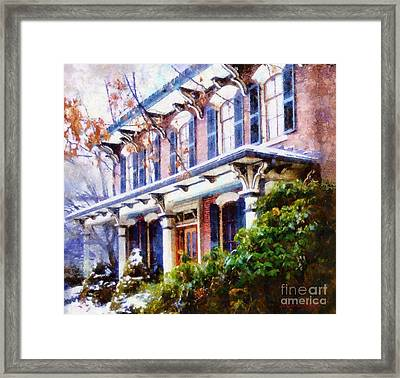 This Old Colonial House  Framed Print by Janine Riley