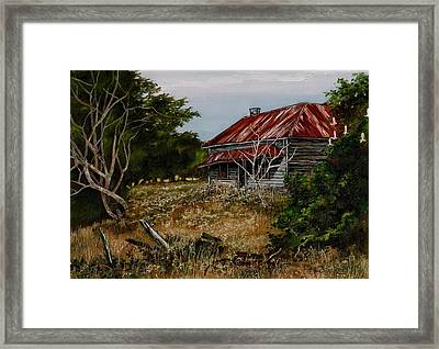 This Old House Framed Print by Val Stokes