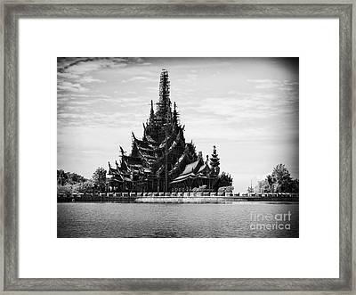 This Old Temple Framed Print by Thanh Tran