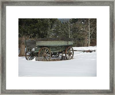 This Old Wagon Framed Print by Steven Parker