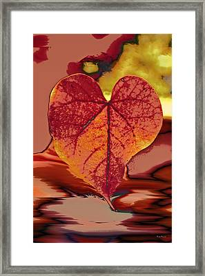 This One Is For Love Framed Print by Linda Sannuti