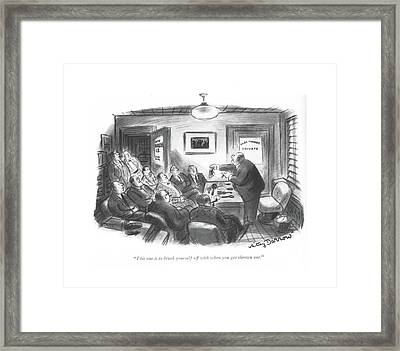 This One Is To Brush Yourself Off With When Framed Print