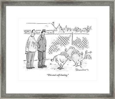 This One's Self-basting Framed Print by Danny Shanahan