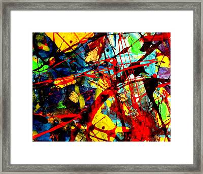 This Painting Has A Life Of Its Own Vi Framed Print by John  Nolan