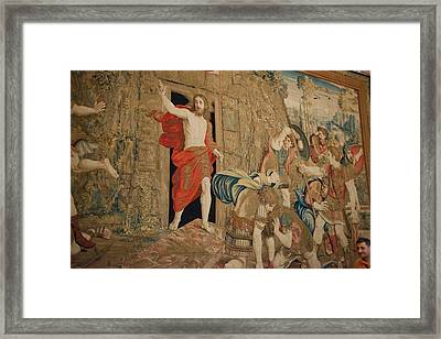 This Tapestry Is Of The Resurrection Framed Print by Jan and Stoney Edwards