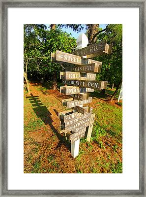 A Sign In Lancaster Framed Print by Joseph C Hinson Photography