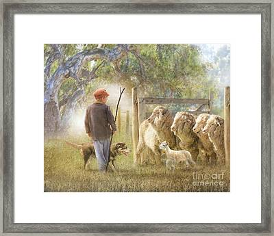 This Way Please ..... Framed Print
