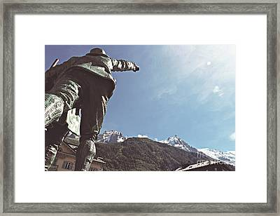 This Way To The Aiguille Du Midi Framed Print by Cendrine Marrouat
