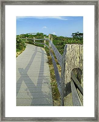 This Way To The Beach Framed Print by Barbara McDevitt