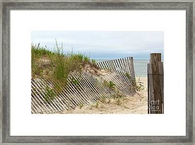 This Way To The Beach Framed Print