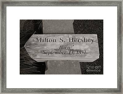This Way To The Birth Place Framed Print