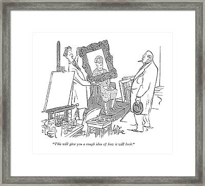 This Will Give You A Rough Idea Of How Framed Print by George Price