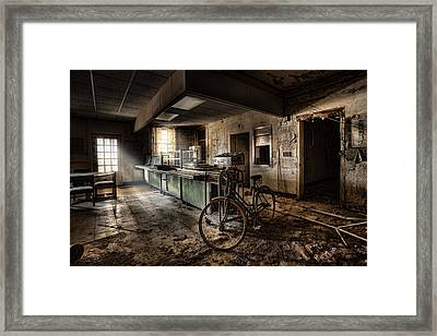 This Would Be The End - Cafeteria - Abandoned Asylum Framed Print by Gary Heller