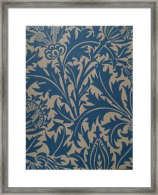 Thistle Design Framed Print by William Morris