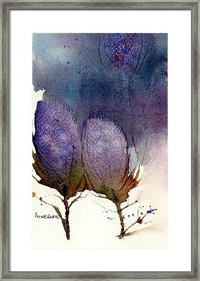 Framed Print featuring the painting Thistle Weather by Anne Duke