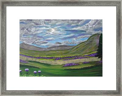 Thistles And Fields Framed Print