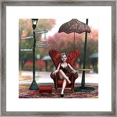 Thither And Yon Framed Print by Sandra Bauser Digital Art