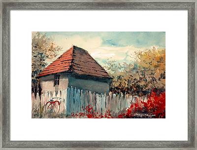 Thegarden Path Framed Print by Charles Rowland