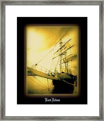 Th'lord Nelson Framed Print by Ritchard Mifsud