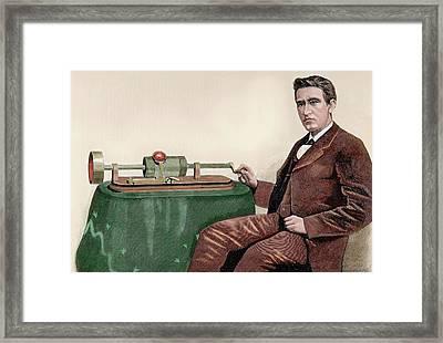 Thomas Alva Edison (1847-1931 Framed Print