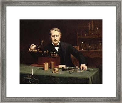 Thomas Alva Edison Framed Print by Mountain Dreams