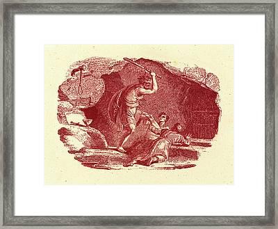Thomas Bewick, British 1753-1828, Murder Scene Framed Print