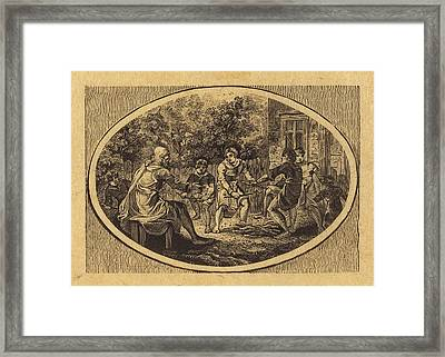 Thomas Bewick British, 1753 - 1828, The Boasting Traveler Framed Print by Quint Lox