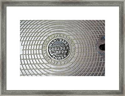 Thomas Crapper Manhole Cover Framed Print by Adam Hart-davis/science Photo Library