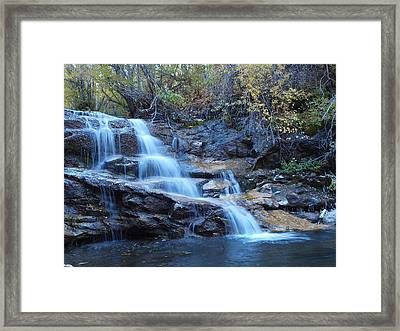 Thomas Creek Falls Framed Print by Jenessa Rahn