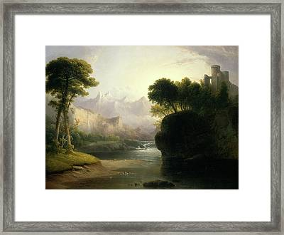 Thomas Doughty, Fanciful Landscape, American Framed Print by Litz Collection