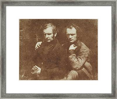 Thomas Duncan And His Brother James Framed Print