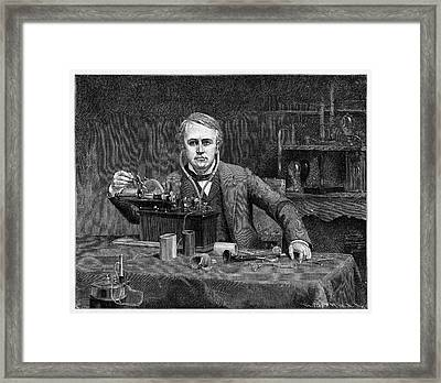 Thomas Edison Framed Print by Cci Archives