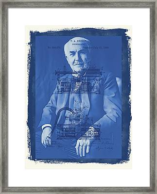 Thomas Edison Framed Print by Dan Sproul