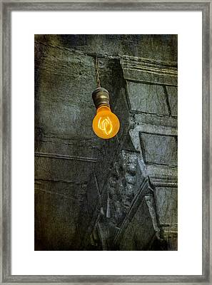 Thomas Edison Lightbulb Framed Print by Susan Candelario