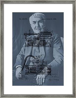 Thomas Edison's Invention Framed Print by Dan Sproul