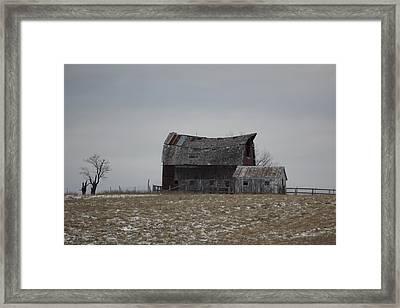 Thomas Hill Barn Framed Print