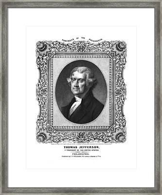 Thomas Jefferson Framed Print by Aged Pixel