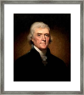 Thomas Jefferson By Rembrandt Peale Framed Print by Bill Cannon