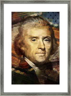 Thomas Jefferson Framed Print by Corporate Art Task Force