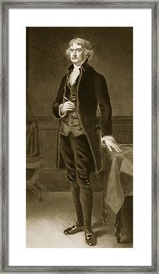 Thomas Jefferson Framed Print by Eliphalet Frazer Andrews