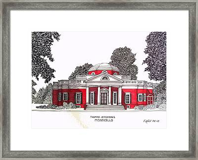 Thomas Jefferson Framed Print by Frederic Kohli