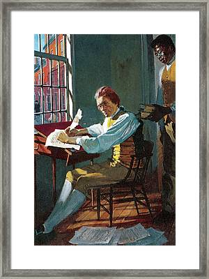 Thomas Jefferson In His Study Framed Print