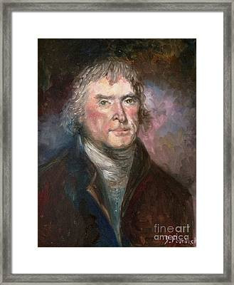 Thomas Jefferson Framed Print by Irene Pomirchy