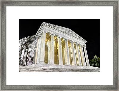 Thomas Jefferson Memorial At Night  Framed Print
