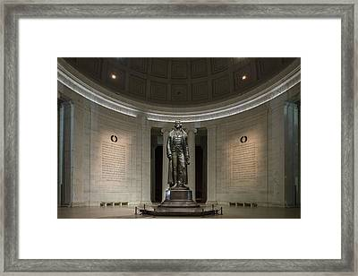 Thomas Jefferson Memorial At Night Framed Print