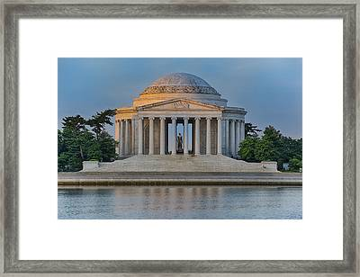 Thomas Jefferson Memorial At Sunrise Framed Print by Sebastian Musial