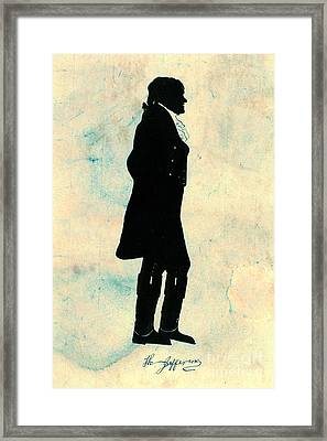 Thomas Jefferson Silhouette 1800 Framed Print by Padre Art